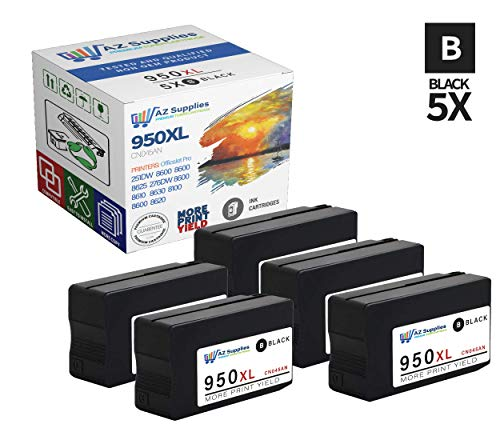 Hp Ink Cartridge 950 951 - AZ Compatible Ink Cartridge Replacement for HP 950XL (CN045AN) - 5 Black ()