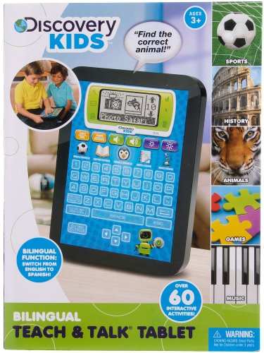Discovery Kids Bilingual Spanish English Teach & Talk Tablet (assorted colours) (Tablet Kids Spanish compare prices)