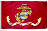 3X5 Usmc Marine Corps 2 Sided Faced Wind Resistant 2-Ply Spun Polyester Flag