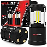 GearLight LED Lantern with Magnetic Base [2 Pack] Updated - Battery Powered and Operated Camping Lanterns with Hanging Hook - Best Outdoor, Indoor, Hurricane, Emergency Light, Tent Lamp