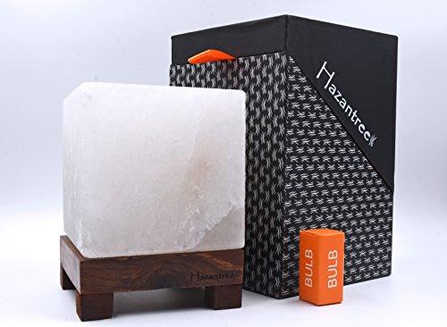 Hazantree Pearl White ZenBlock Himalayan Salt Lamp Made in Pakistan, hymalain Salt Lamps, Salt Rock lamp, White hymalain Salt Lamps, himilian Salt lamp