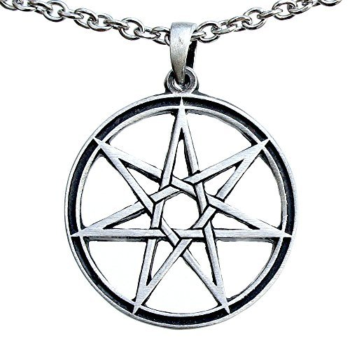 ohdeal4u the best amazon price in savemoney es Thirteenth Century septagram 7 pointed fairy star heptagram pewter pendant charm amulet stainless steel chain