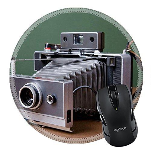 MSD Mousepad Round Mouse Pad/Mat 27406695 Vintage camera on green - Lens Polaroid Glasses