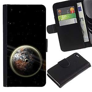 Ihec-Tech / Flip PU Cuero Cover Case para Apple Iphone 4 / 4S - Space Planet Galaxy Stars 61
