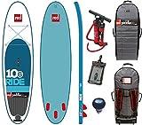 RED Paddle Co Ride 10'6 x 32 (2016 Series) Includes Bundle. Titan Pump - Backpack - Pumped Up SUP Pressure Gauge
