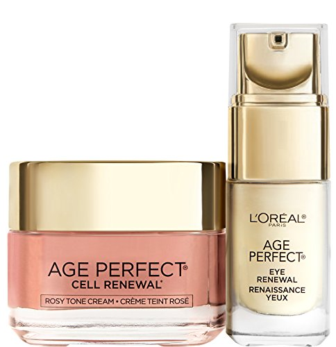 L'Oréal Paris Mother's Day Kit with Favorite Age Perfect Rosy Tone Moisturizer and Eye Renewal, 1 kit