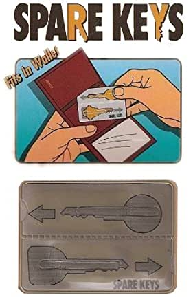 Plastic Insert for Spare Keys for Wallets and Purse and Hand Bags Credit Card Size