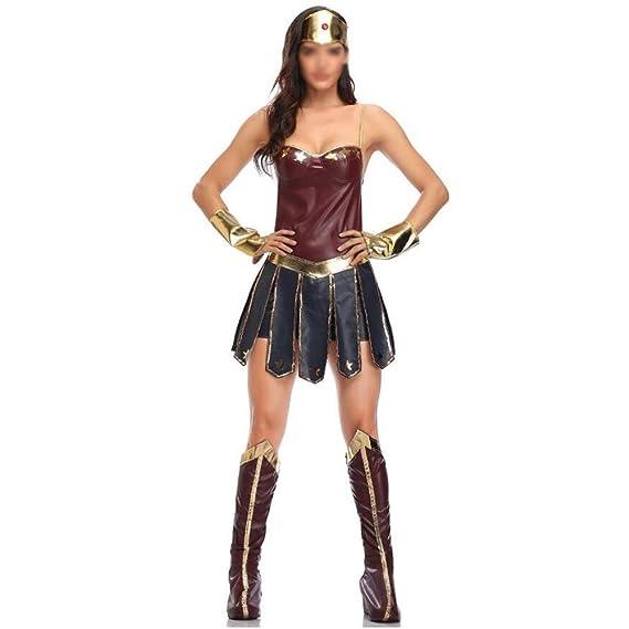 HENONG EU Lady Halloween Wonder Woman Disfraz Cosplay Hero League ...