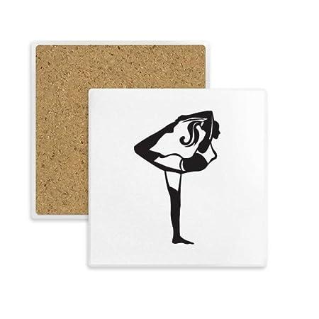 Compra DIYthinker el Estirar del Yoga Mantenga Coaster Plaza ...