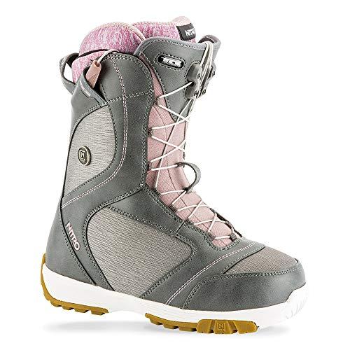 - Nitro Snowboards Women's Monarch TLS '19 Leichter Snowboardschuh Snowboardboot mit Schnellschnürsystem Allround Freestyle Freeride Softboot Girls Warm Boots, Grey, 9