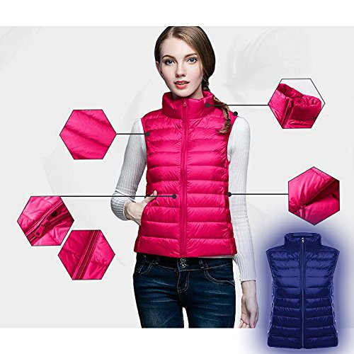Body Gilet Ultralight Girls Scuro Maniche Women Bozevon Warmer Senza Ladies Blu Pq0aI