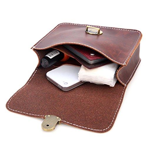 Simplelife Bolsas Viaje Pack Casual Llaves Mujeres Monedero Cintura Teléfono De Fanny Marrón Bolso zzqfr