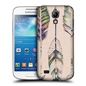AIYAYA Samsung Case Designs Vintage Arrows Love Feathers Protective Snap-on Hard Back Case Cover for Samsung Galaxy S4 mini I9190 Duos I9192