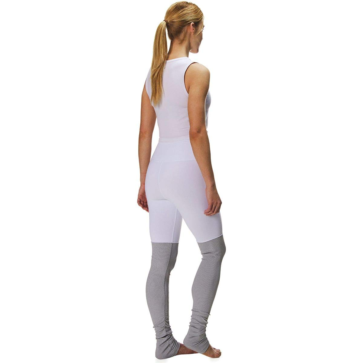 Alo Yoga High-Waist Goddess Legging - Women's White/Dove Grey Heather, S by Alo Yoga (Image #2)