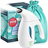 KULLIS [New 2018] Portable Handheld Steamer Clothes - Professional Small Garment Clothing Steamer Iron. 8-in-1 Hand Steamer Wrinkle Remover. Clean, Sterilize, Portable, Compact Travel/Home. 100% Safe
