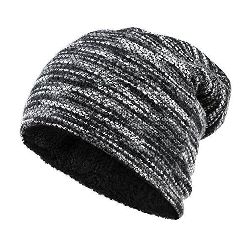Crystal Skull Hat (EROKAY Knit Beanie Hats, Winter Thick Warm Ski Cap Skull Caps For Men& Women (Grey))