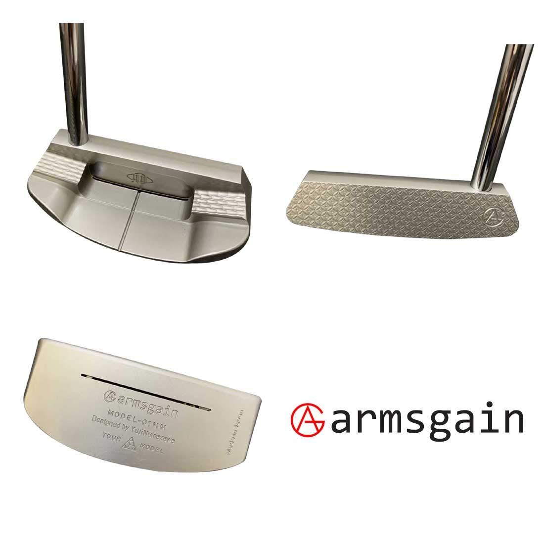 アームスゲイン(armsgain) パター Model-01【TourModel】 ハーフマレットタイプ 35インチ パター