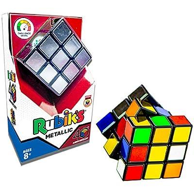 Winning Moves Rubik's 40th Anniversary Metallic 3x3: Toys & Games