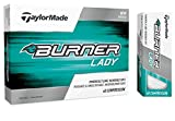 TaylorMade 2017 Ladies/Women's Burner Golf Ball, White (One Dozen)