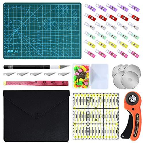 Cutters + plancha de corte A4 set con accesorios y repuestos