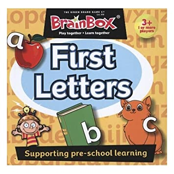 Brain Box First Letters, Juego de Mesa, Multicolor (31690072A): The Green Board Game Co: Amazon.es: Juguetes y juegos