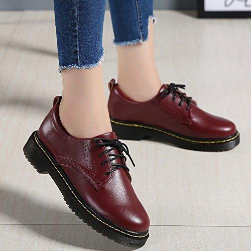 Calzado Informal de Mujer de Moda con Zapatos Gruesos Y Planos , café , EUR38
