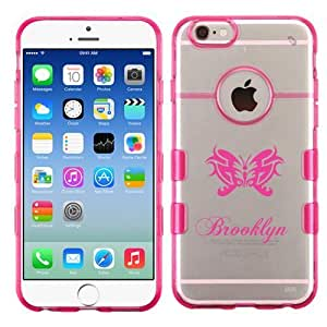 For iPhone 6 (4.7) Brooklyn Transparent Clear/Transparent Gummy Cover. (Pink)