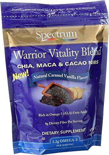 Gamme Essentials Chia Maca et Cacao Nibs - guerrier vitalité Blend - naturel Caramel saveur vanille - 10 oz