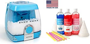Nostalgia SC7BL Countertop Snow Cone Party Station with Snow Cone Syrup Party Kit