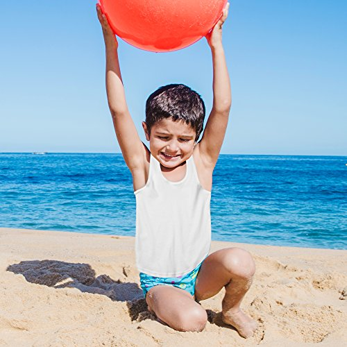 Boys Sleeveless Undershirt - (2 Pack) Boys White Tank and Super Soft Undershirts for All Day Comfort and Boys Tank Tops Wardrobe Essential by Candyland (Image #1)