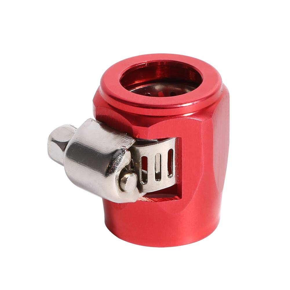 AN6 Hose End Finishers Clamp Clips Line End Cover Clamp Finisher Fitting Red Fuel Oil Water Line Clip Clamp for Auto Car