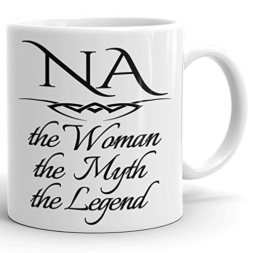 Best Personalized Womens Gift! The Woman the Myth the Legend - Coffee Mug Cup for Mom Girlfriend Wife Grandma Sister in the Morning or the Office - N Set 1