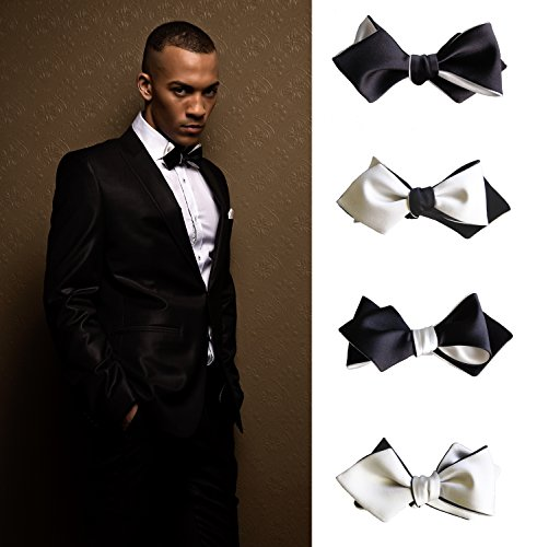 Knot-Theory-Classic-Bow-Tie-in-Black-White-Gold-Red-Purple-Self-Tie-Butterfly-Diamond-Point-Bat-Wing