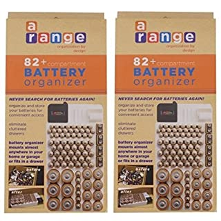 Battery organizer storage case w removable battery tester do it battery organizer storage case by range kleen holds 82 batteries various sizes wkt4162 removable battery tester solutioingenieria Images