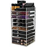 N2 Makeup Co Acrylic Makeup Organizer Cube, 8 Drawers Storage Box For Vanity Tables (8 drawer)