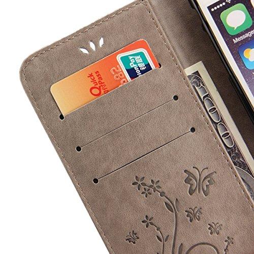 Nnopbeclik iPhone 6S Plus / 6 Plus Leder Hülle Premium Handy Gürtel Tasche Schutzhülle Hülle Case Cover Etui Strass Glitzer Schutz schutzhülle Bumper Schale Silicone für Apple iPhone 6/6S Plus (5,5 Zo