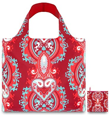 LOQI Opulent Ruby Reusable Shopping Bag, Multicolor