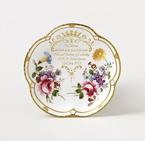 Royal Crown Derby Posies 5 Petal Tray TO CELEBRATE BIRTH OF H.R.H. PRINCE GEORGE 22nd JULY 2013 (Derby Crown Royal Collectibles)