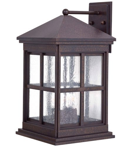Minka Lavery 8563-51 4 Light Outdoor Wall Mount, Rust (Chemical) Finish