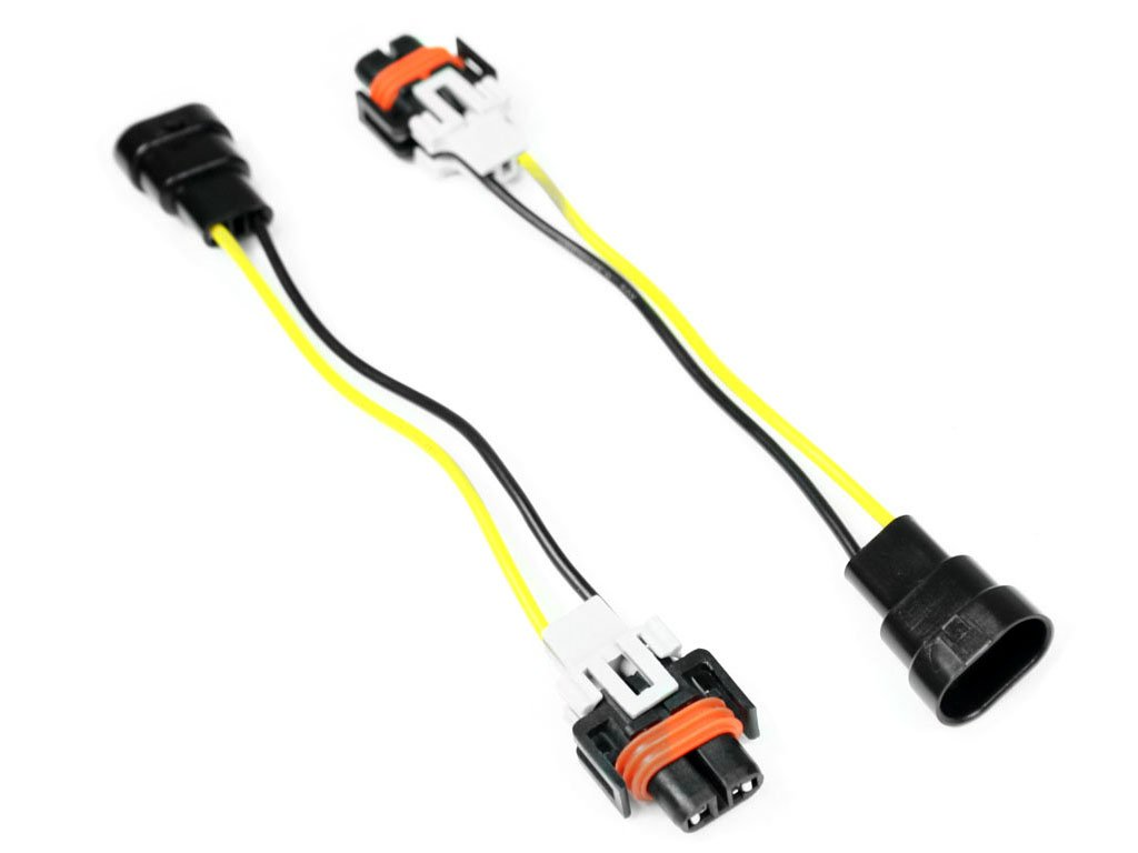 9006 to H11 H8 Headlight/Fog Light Conversion Wiring Harness Adapters ProMotoring