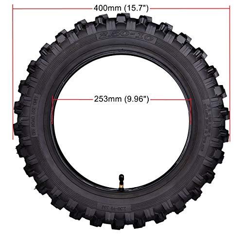 2.50x10'' Knobby Tyre 2.5-10 Front + Rear Tire w/ TR87 Inner Tube for Mini Dirt Bike XR50 CRF50 PW50 SDG107 KTM 50SX Morini Razor SX500 by Wingsmoto (Image #1)