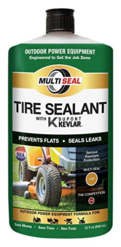 MULTI SEAL 20120 Tire Sealant with Kevlar (Outdoor Power Equipment Formula), Great for Lawn Mowers, Small Tractors, Wheelbarrows, Wood Chippers, Snow Blowers and more, 1-Pack (32 oz.) ()