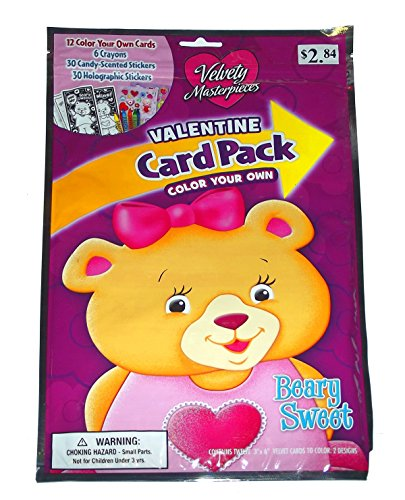 (COLOR YOUR OWN VALENTINE CARD PACK, BEARY SWEET)