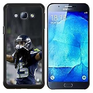EJOOY---Cubierta de la caja de protección para la piel dura ** Samsung Galaxy A8 A8000 ** --fútbol americano
