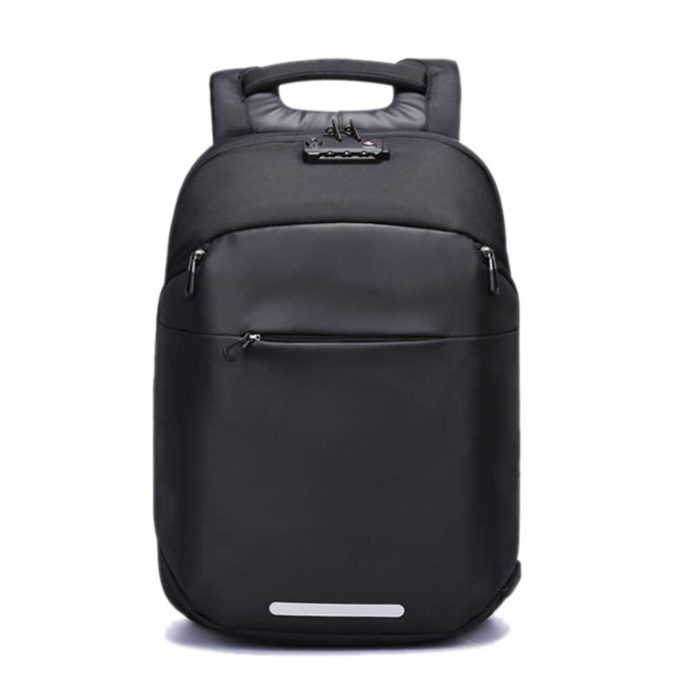 バックパック、盗難防止ビジネスコンピュータのバックパック、ファッショントレンドトラベルバッグ、スクールバッグ  Black B07RJRKY9F