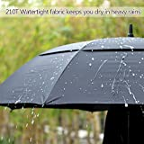 Windproof-Golf-Umbrella-62-Auto-Open-Black-Umbrella-Extra-Large-for-Men-Women-Double-Canopy-Oversized-Portable-Stick-Umbrella-for-Rain-Sun-with-Cover-Wind-Resistant-Umbrella