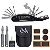 Conjunto de reparación de Bicicletas, alwaysig 16 en 1 Herramienta multifunción, juego de herramientas de reparación de bicicletas, bicicleta multiherramienta, palanca de neumáticos, parches de bicicleta