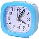 Diadia Battery Operated Alarm Clock, Electronic Large LCD Display Digital Alarm Clocks,Simple and Useful,Small and Light Weight for Travel Cooking Food, Homework, Workout, Sports, Games (Blue)