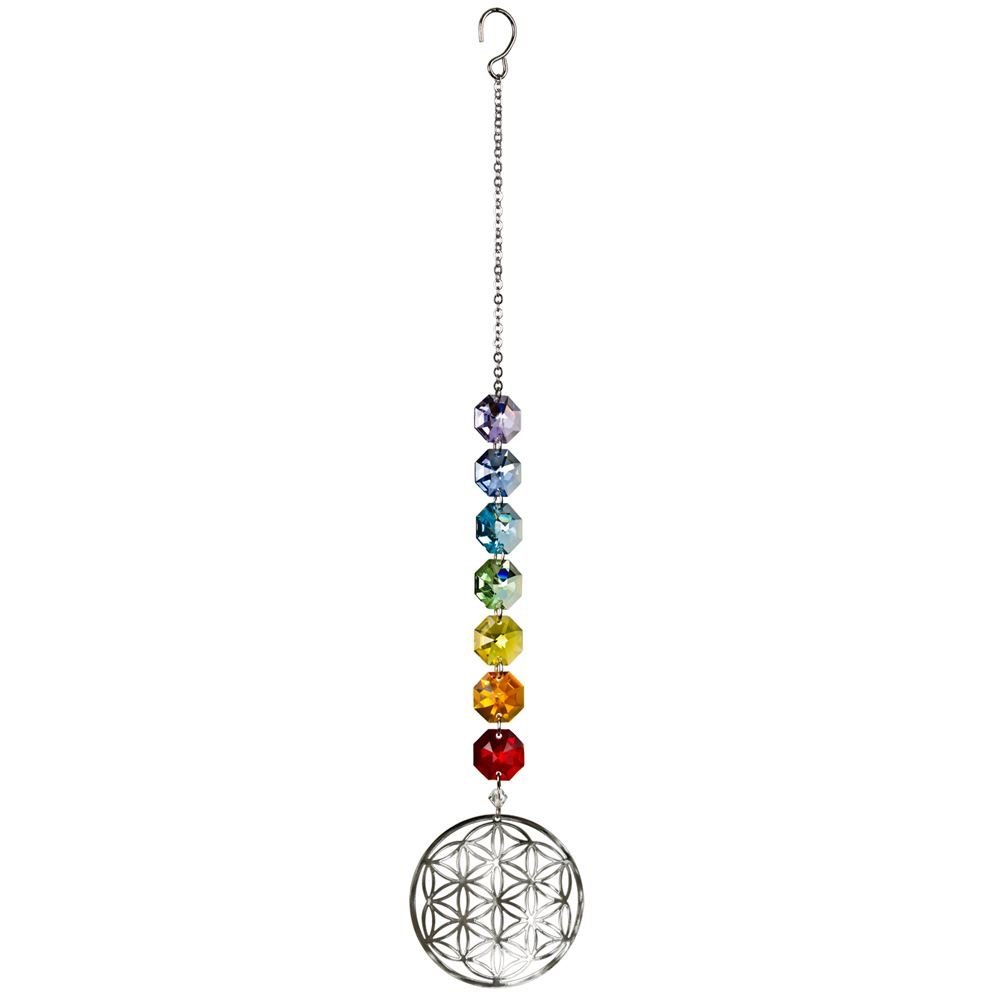 Woodstock Crystal Radiance Cascade Flower of Life Light Suncatcher CRFL New