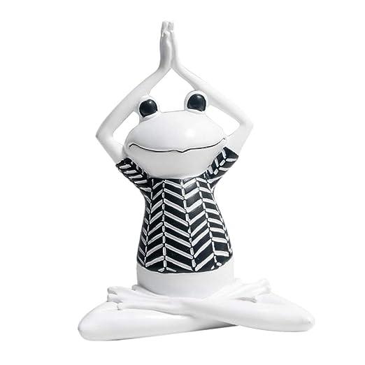 Fityle Frog Kawaii - Figura Decorativa de Resina para Yoga ...